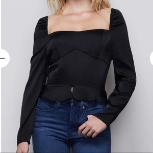 NWT Good American THE TOO TEMPTED CORSET TOP